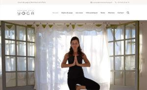 Capture d'écran du site de Mariana Roth Yoga